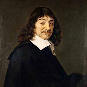A Portrait of Rene Descartes, the father of modern mathematics