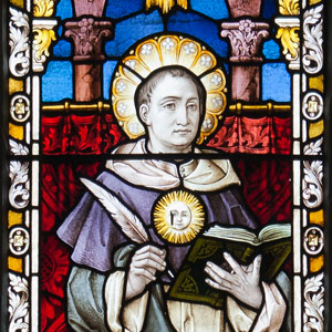 Thomas Aquinas Stained Glass