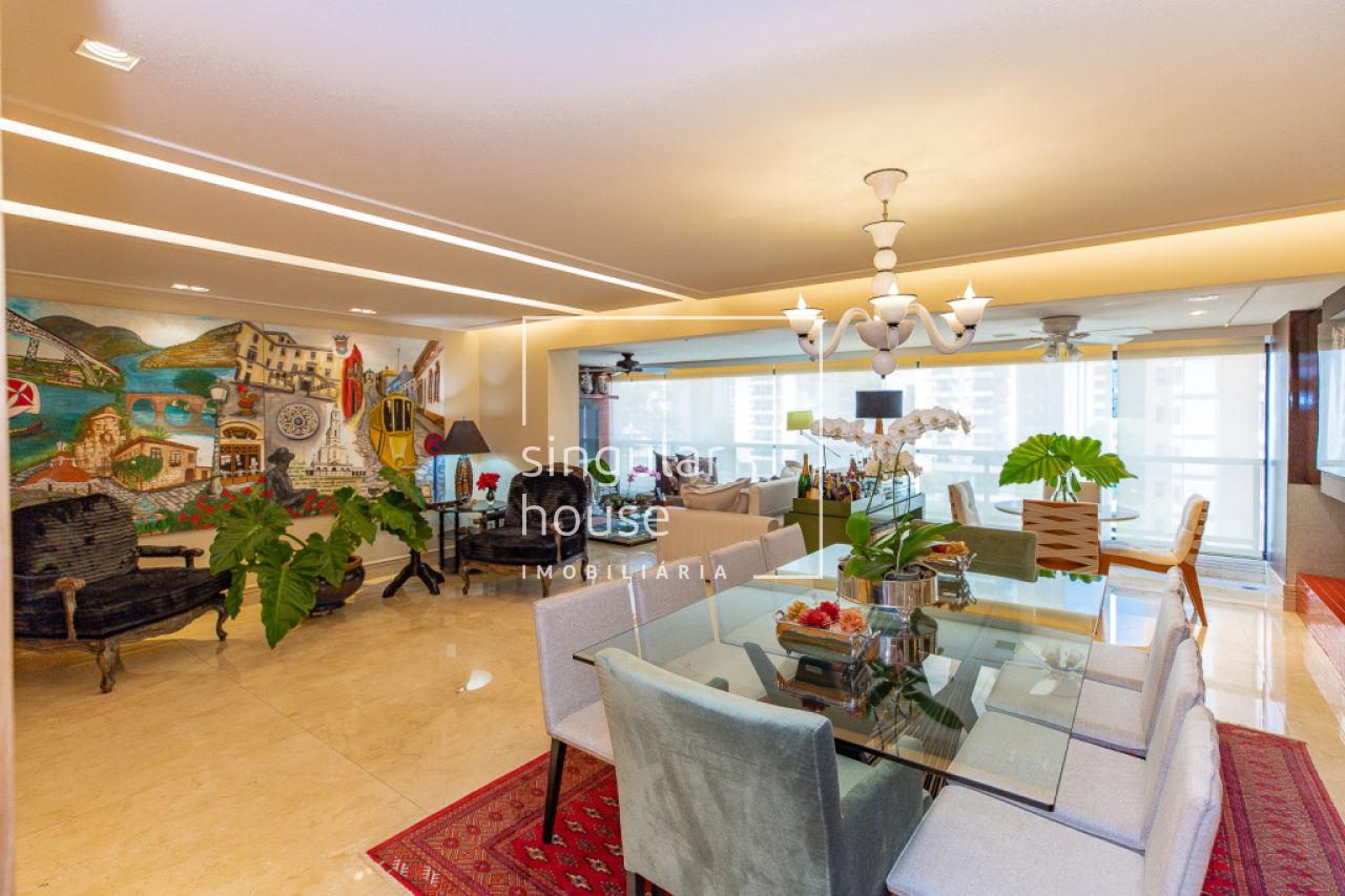 209 m² | 3 suítes + sala íntima | 4 vagas