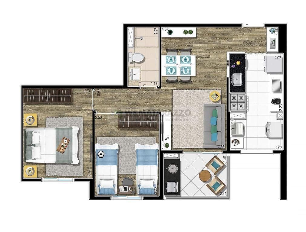 Apartamento Vila Andrade 2 dormitorios 2 banheiros 1 vagas na garagem