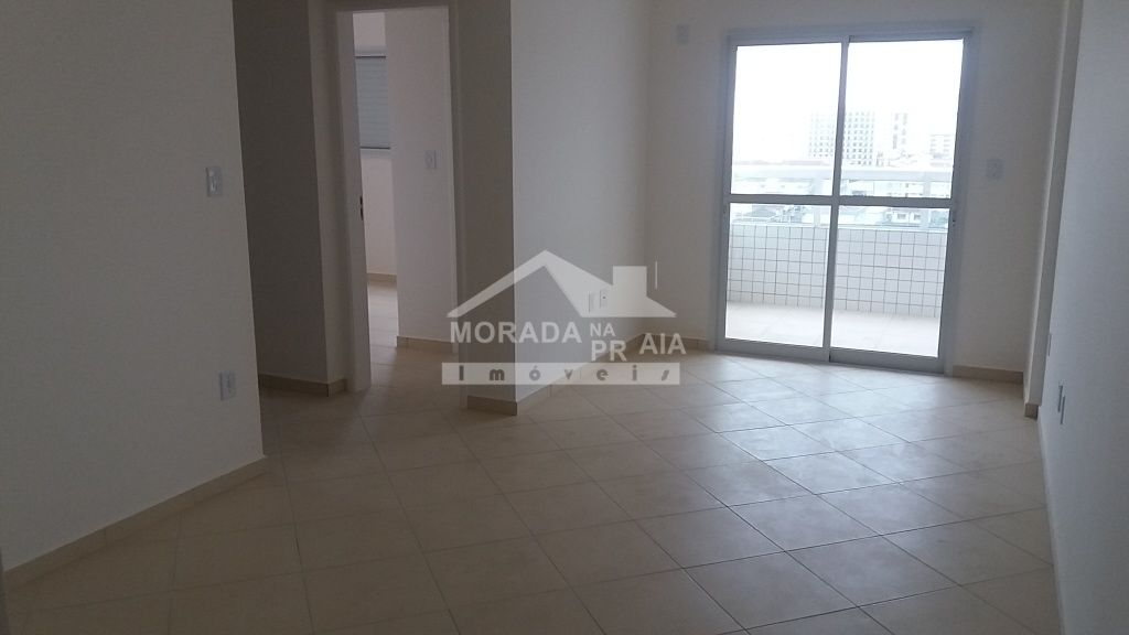Sala do apartamento com 2 dormitórios em Cidade Ocian - Praia Grande