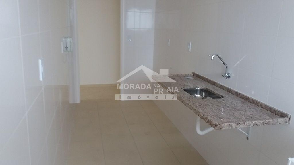 Cozinha do apartamento com 2 dormitórios em Cidade Ocian - Praia Grande
