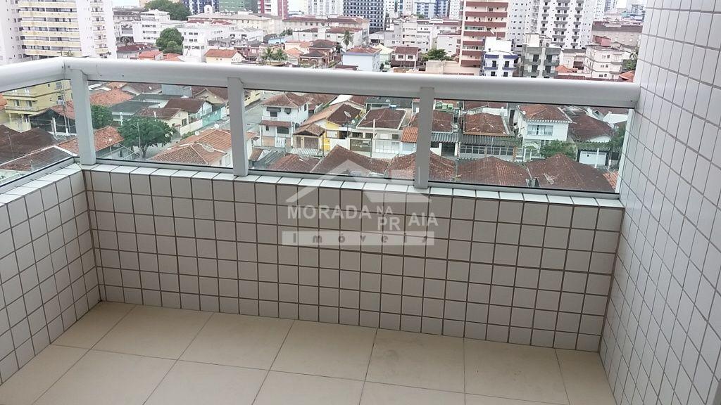 Sacada do apartamento com 2 dormitórios em Cidade Ocian - Praia Grande