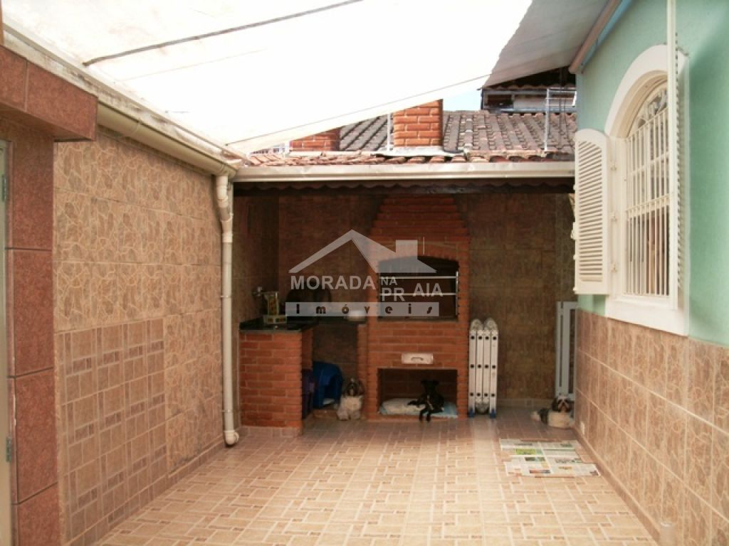 Churrasqueira do casa isolada com 3 dormitórios em Canto do Forte - Praia Grande
