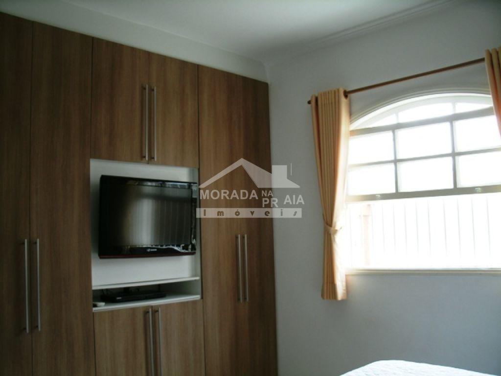Suíte 01 ang 02 do casa isolada com 3 dormitórios em Canto do Forte - Praia Grande