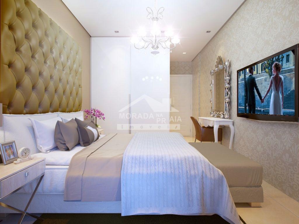 Dormitório do apartamento com 4 dormitórios em Canto do Forte - Praia Grande