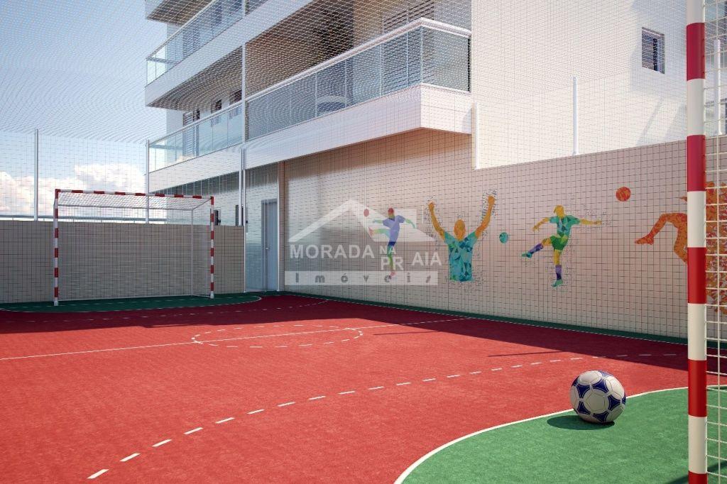 Quadra do apartamento com 4 dormitórios em Canto do Forte - Praia Grande