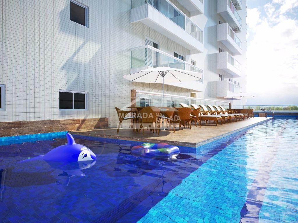 Piscina do apartamento com 4 dormitórios em Canto do Forte - Praia Grande