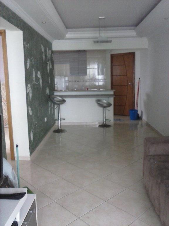 Sala do apartamento com 2 dormitórios em Vila Mirim - Praia Grande