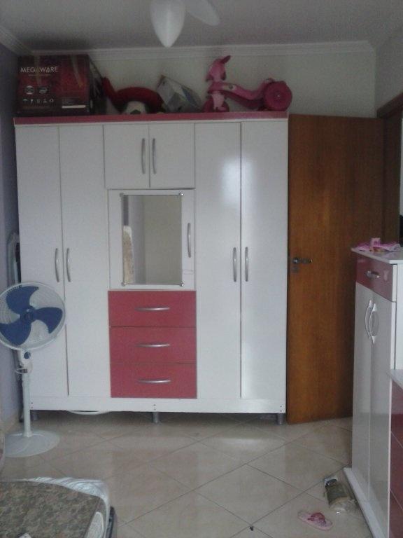 Dormitório do apartamento com 2 dormitórios em Vila Mirim - Praia Grande