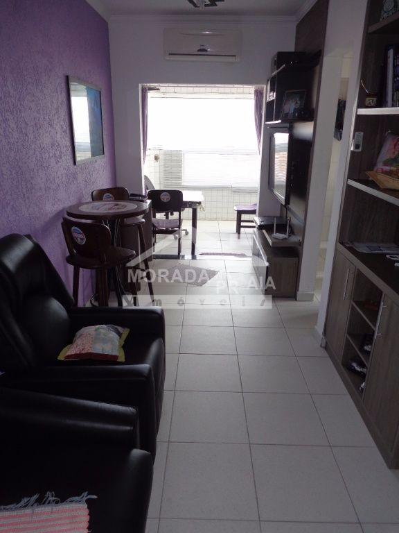 Sala do apartamento com 1 dormitórios em Vila Mirim - Praia Grande
