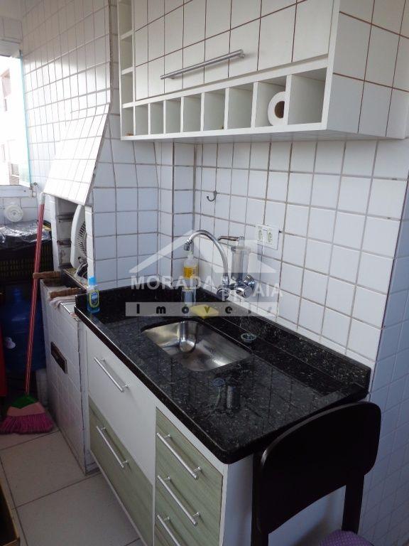 Terraço gourmet do apartamento com 1 dormitórios em Vila Mirim - Praia Grande