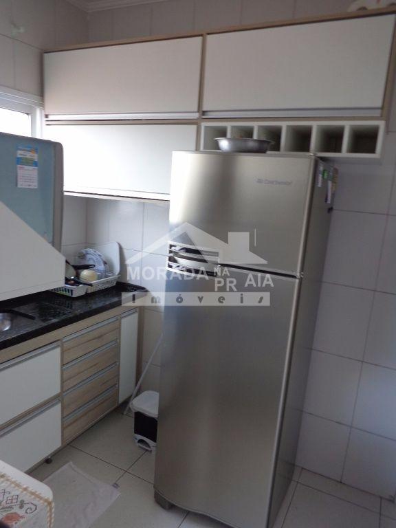 Cozinha do apartamento com 1 dormitórios em Vila Mirim - Praia Grande