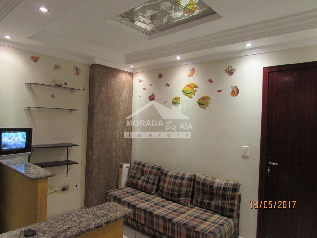 Sala ang 02 do kitinet com 1 dormitórios em Vila Tupi - Praia Grande