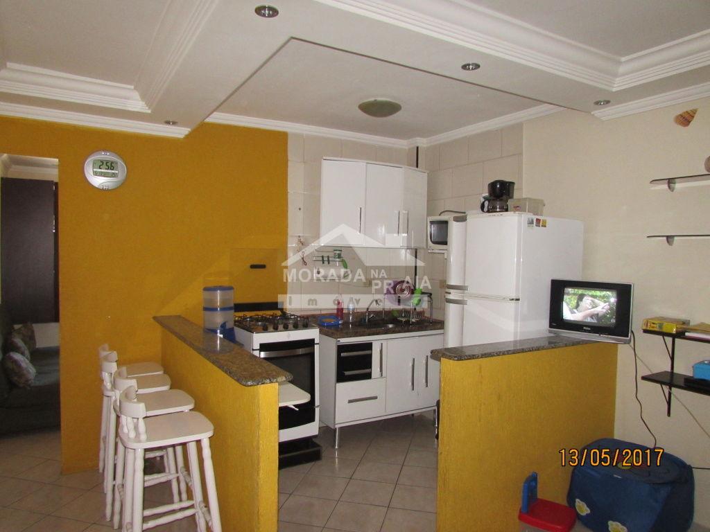 Cozinha do kitinet com 1 dormitórios em Vila Tupi - Praia Grande