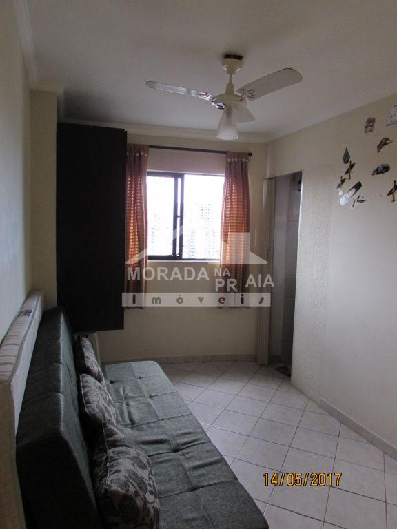 Dormitório do kitinet com 1 dormitórios em Vila Tupi - Praia Grande