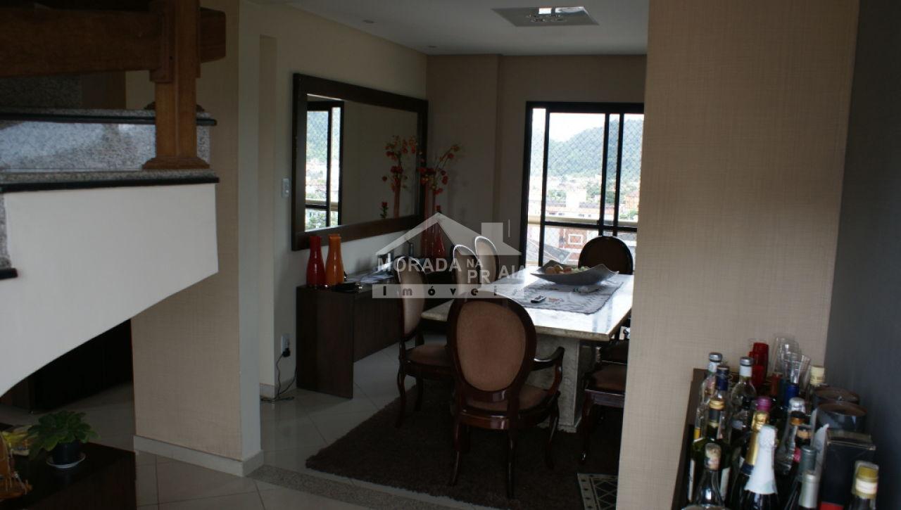 Sala ang 02 do cobertura com 3 dormitórios em Canto do Forte - Praia Grande