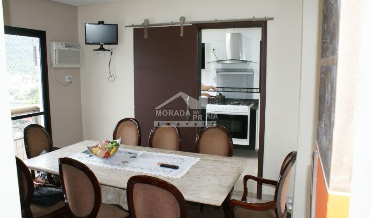 Sala ang 04 do cobertura com 3 dormitórios em Canto do Forte - Praia Grande