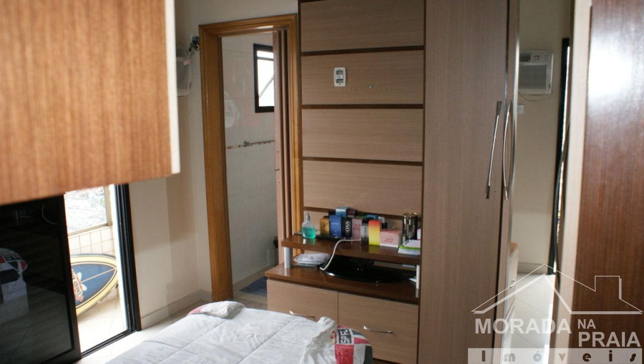 Suíte do cobertura com 3 dormitórios em Canto do Forte - Praia Grande