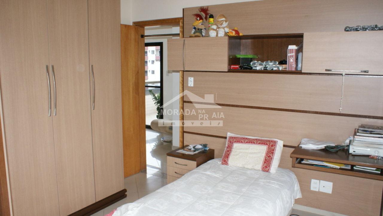 Dormitório do cobertura com 3 dormitórios em Canto do Forte - Praia Grande