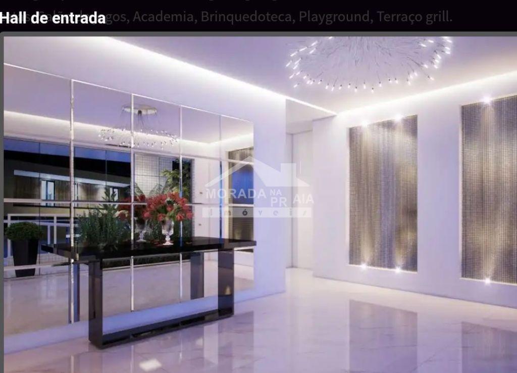 Hall de entrada do apartamento com 2 dormitórios em Balneário Maracanã - Praia Grande