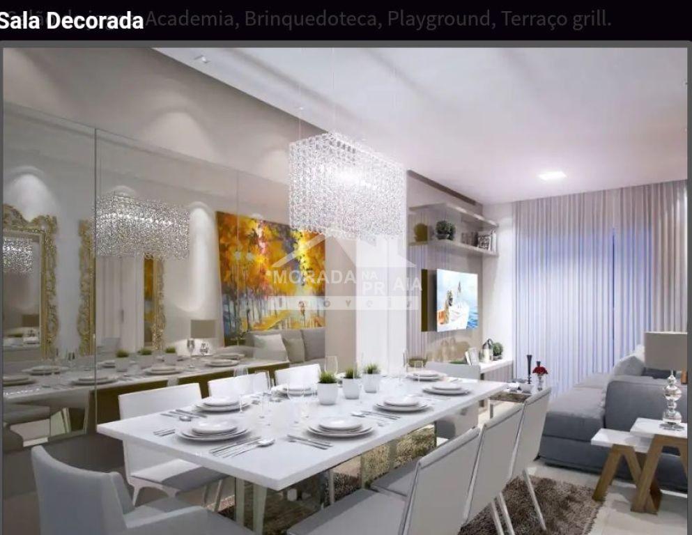 Sala de jantar do apartamento com 1 dormitórios em Balneário Maracanã - Praia Grande