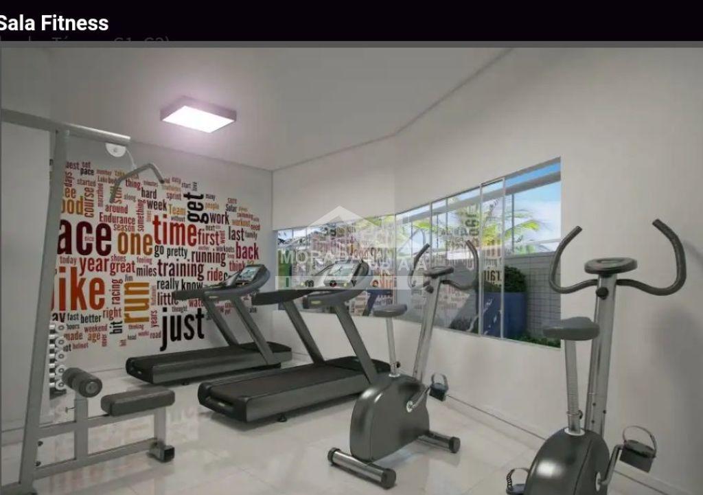 Sala de ginástica do apartamento com 1 dormitórios em Balneário Maracanã - Praia Grande