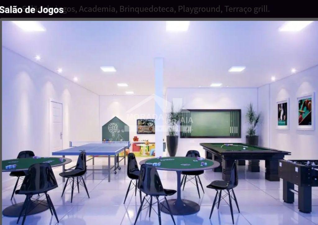 Salão de jogos do apartamento com 1 dormitórios em Balneário Maracanã - Praia Grande