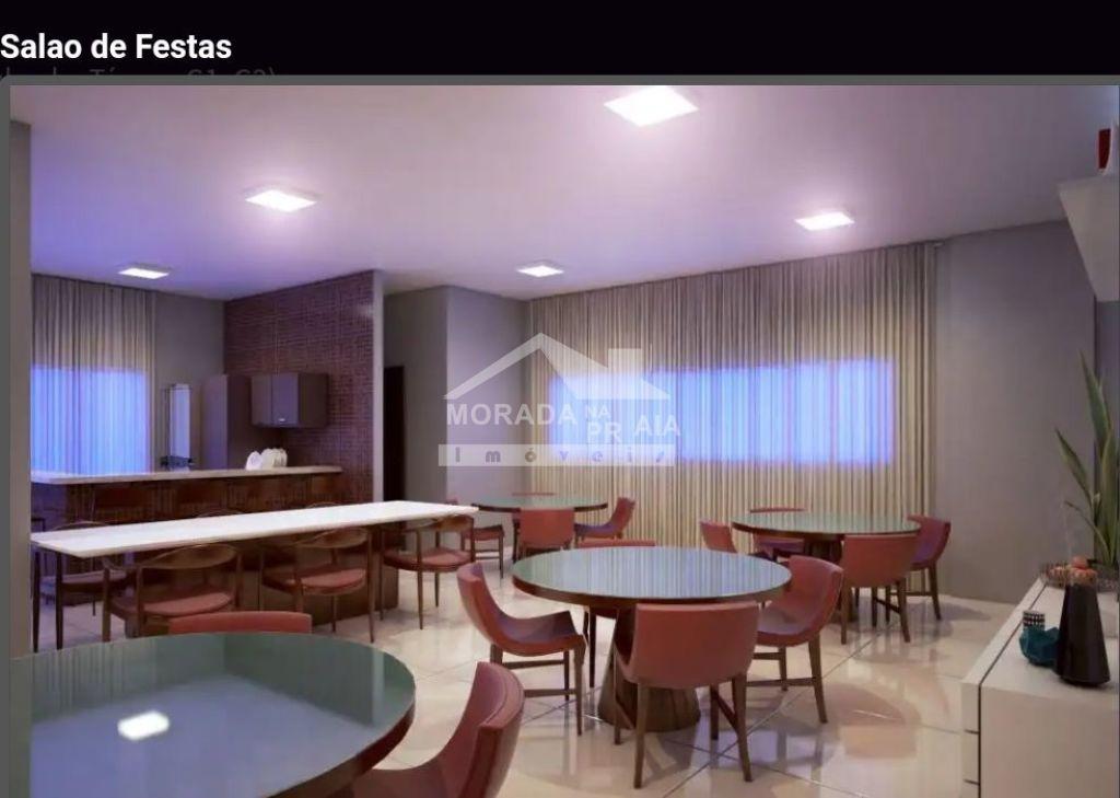 Salão de festas do apartamento com 1 dormitórios em Balneário Maracanã - Praia Grande