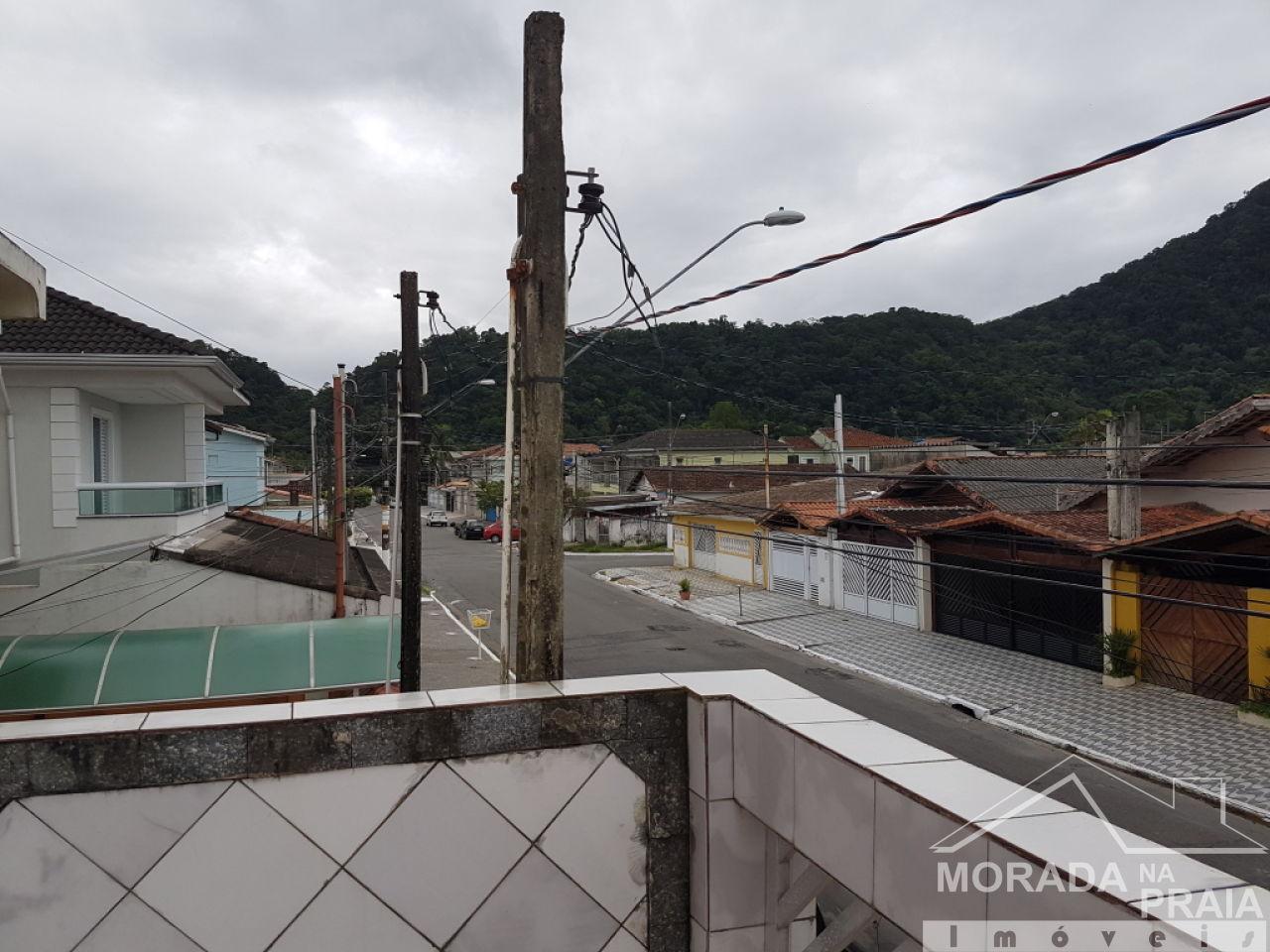 Vista do teraaço ang 02 do sobrado geminado com 2 dormitórios em Canto do Forte - Praia Grande
