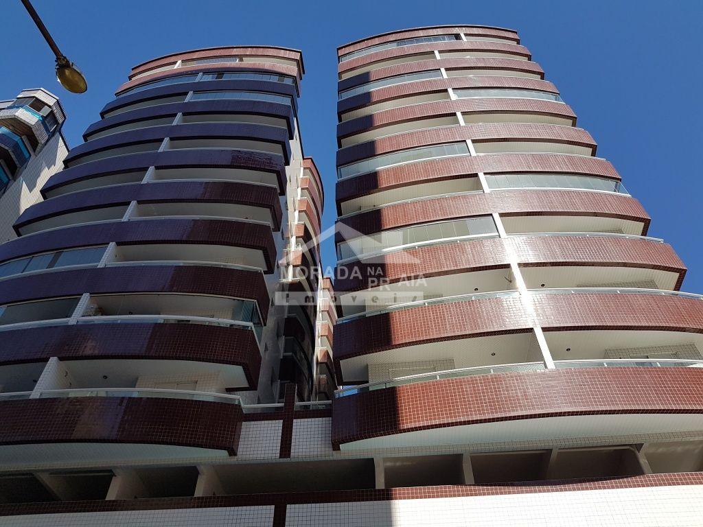 Fachada do apartamento com 1 dormitórios em Cidade Ocian - Praia Grande