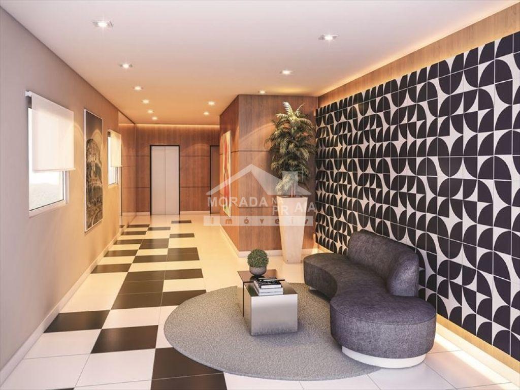 Hall de entrada do apartamento com 2 dormitórios em Vila Caiçara - Praia Grande