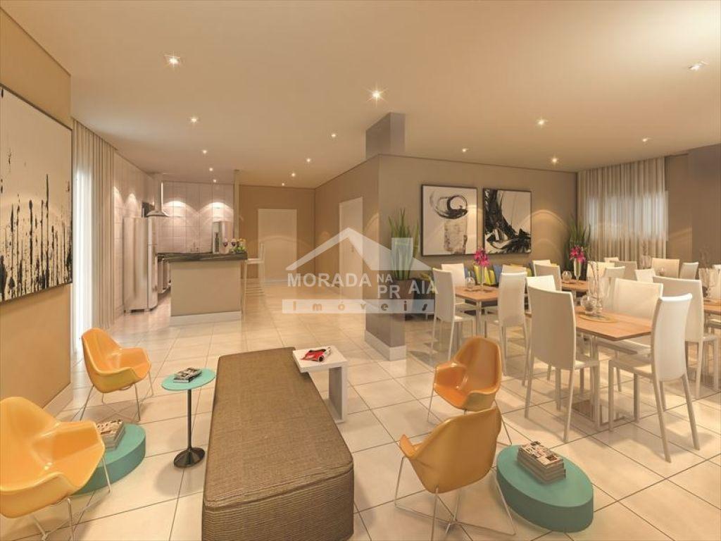 Salão de festas do apartamento com 2 dormitórios em Vila Caiçara - Praia Grande