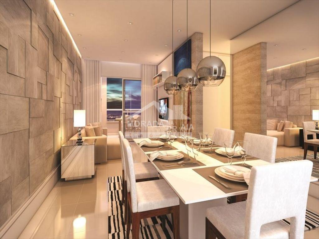Decorado do apartamento com 2 dormitórios em Vila Caiçara - Praia Grande