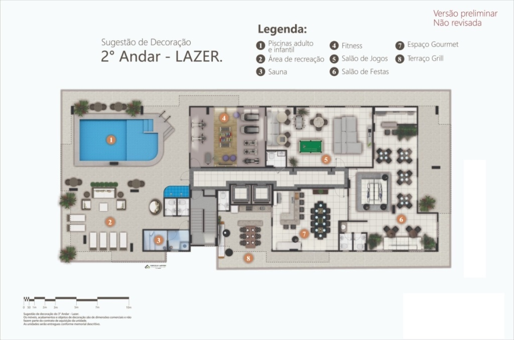 Lazer do apartamento com 2 dormitórios em Canto do Forte - Praia Grande