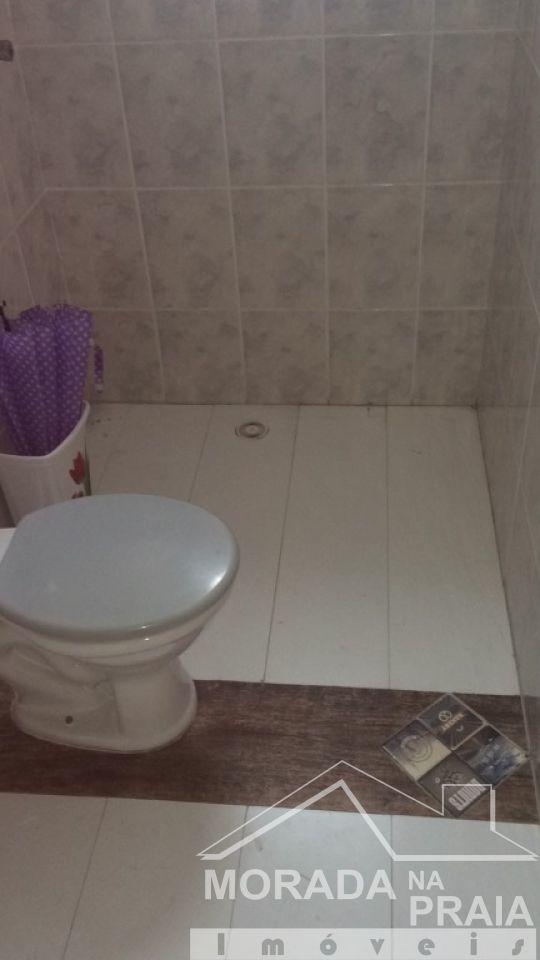 WC social do sala com  dormitórios em Boqueirão - Praia Grande