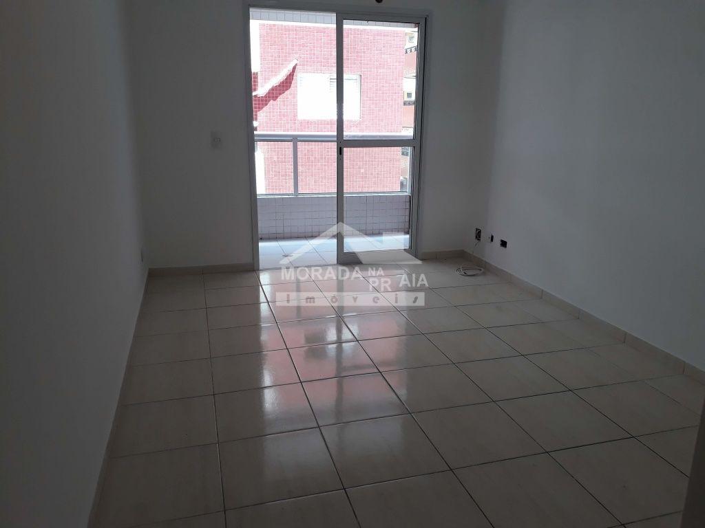 Sala do apartamento com 2 dormitórios em Canto do Forte - Praia Grande