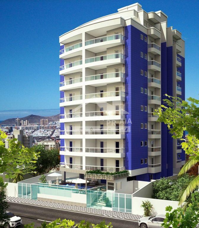 Fachada do apartamento com 1 dormitórios em Campo da Aviação - Praia Grande