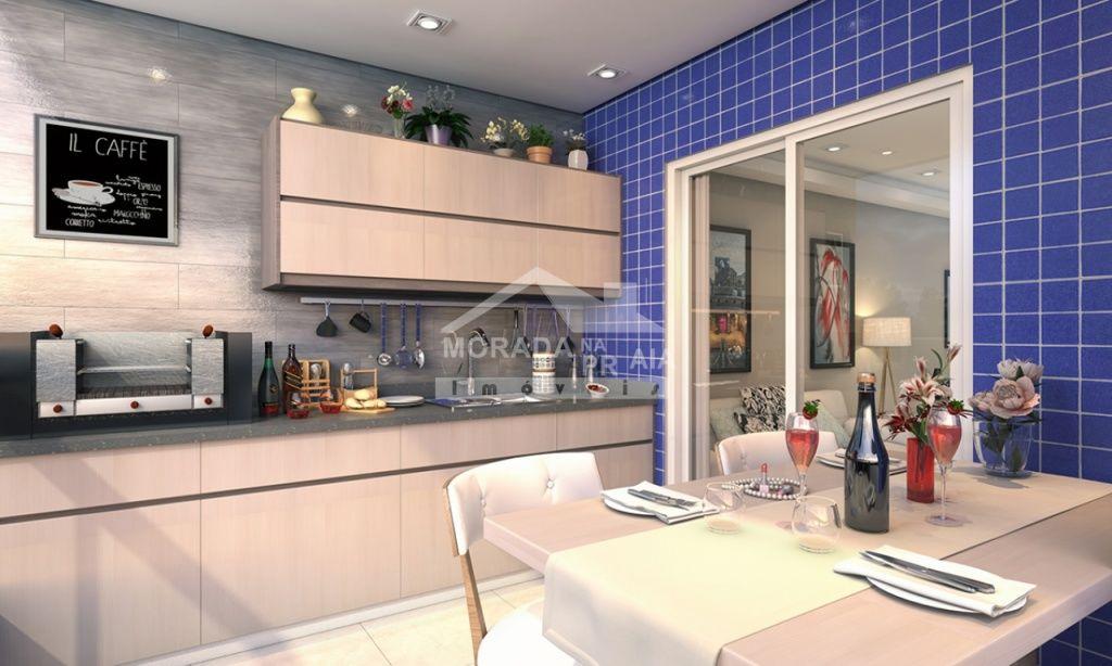 Terraço gourmet do apartamento com 2 dormitórios em Campo da Aviação - Praia Grande