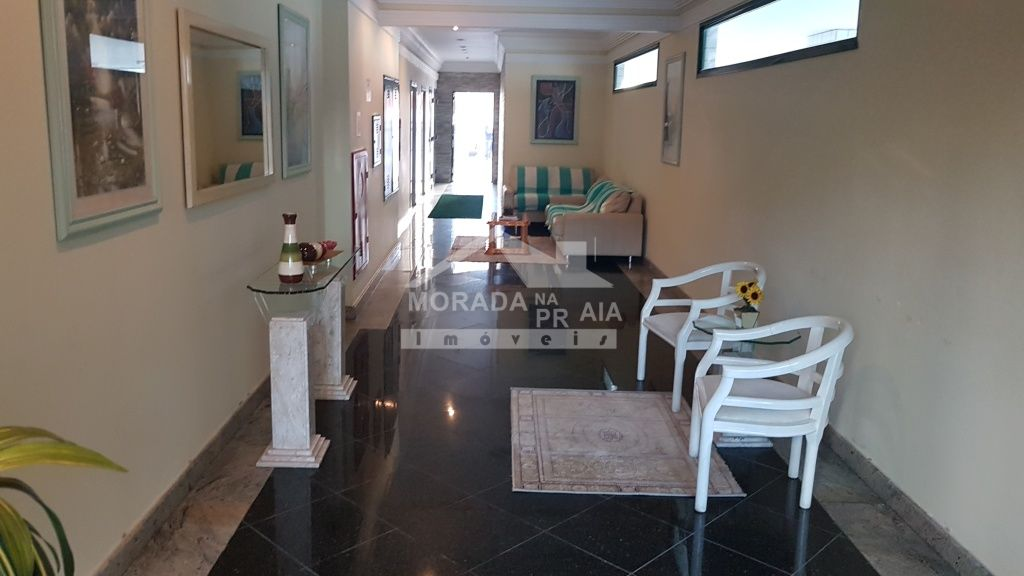 Hall de entrada do apartamento com 2 dormitórios em Campo da Aviação - Praia Grande