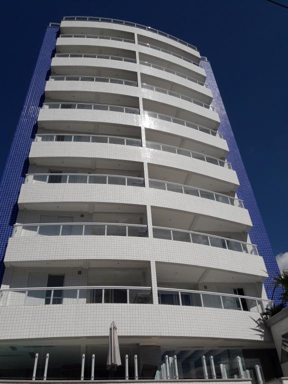 Fachada do apartamento com 2 dormitórios em Campo da Aviação - Praia Grande