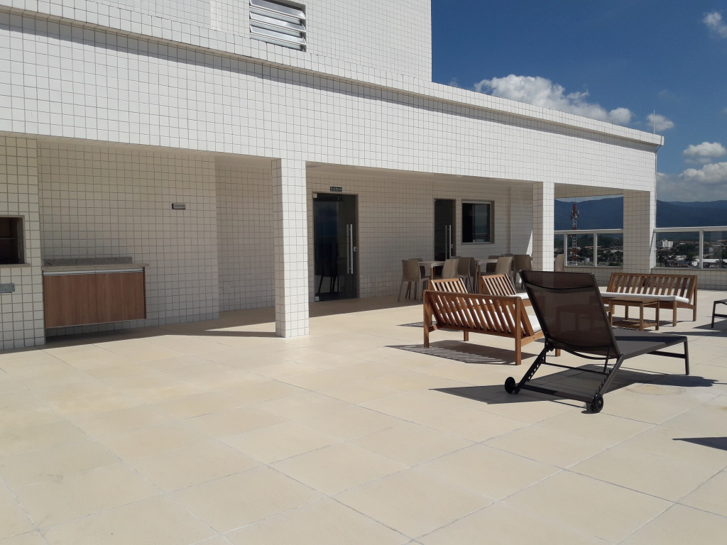 Área de Lazer do apartamento com 2 dormitórios em Campo da Aviação - Praia Grande
