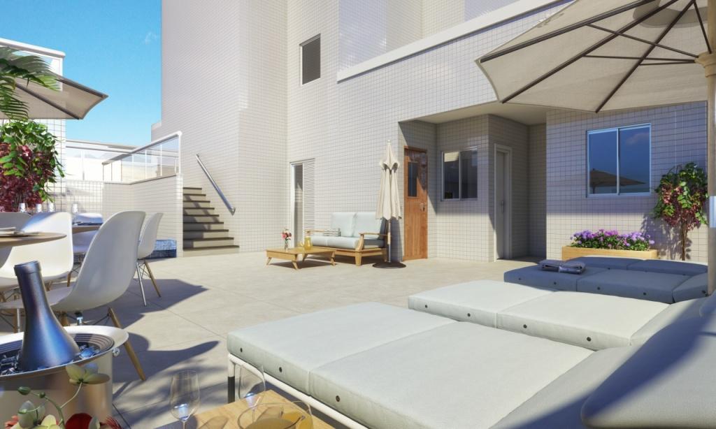 Área de Lazer do apartamento com 2 dormitórios em Vila Caiçara - Praia Grande
