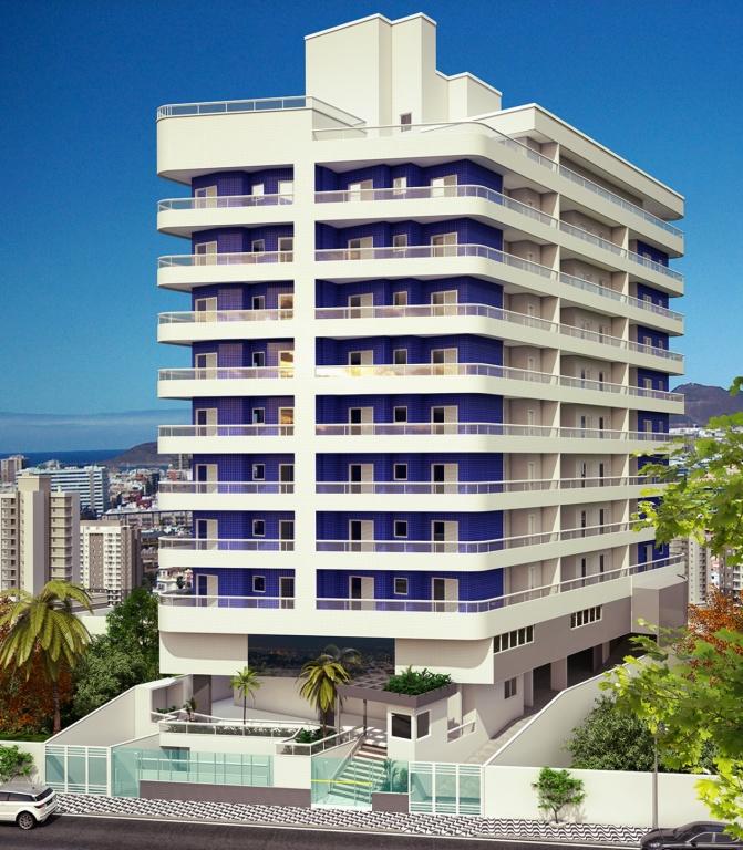 Fachada do apartamento com 2 dormitórios em Vila Caiçara - Praia Grande