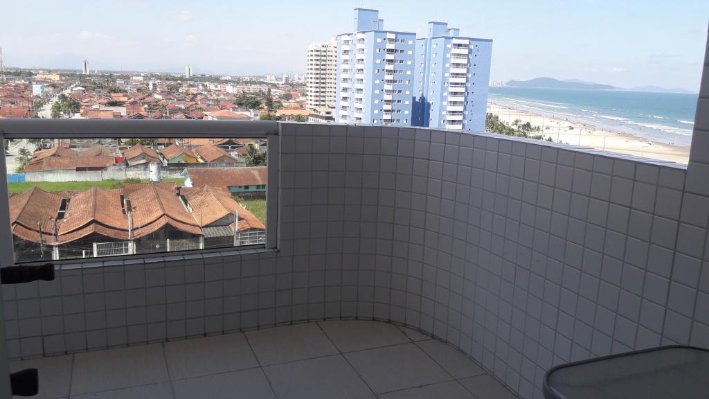Sacada do apartamento com 2 dormitórios em Balneário Maracanã - Praia Grande