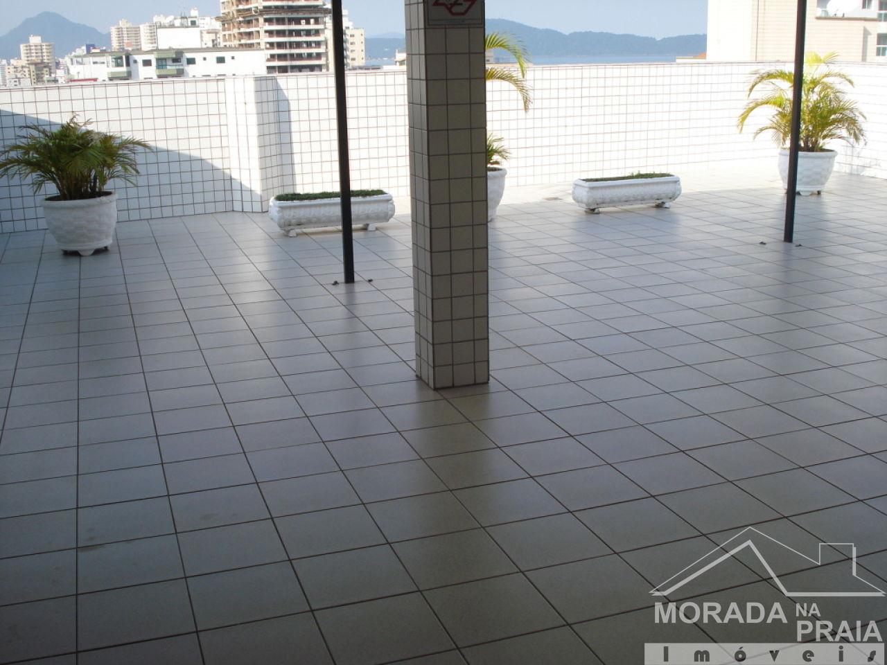 Solarium do apartamento com 3 dormitórios em Campo da Aviação - Praia Grande