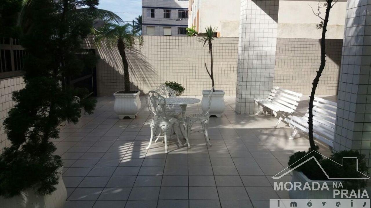 Jardim do apartamento com 3 dormitórios em Campo da Aviação - Praia Grande