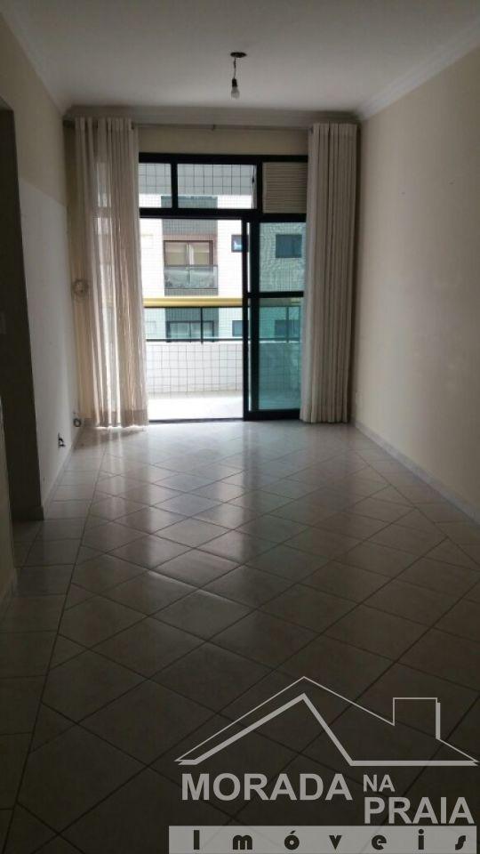 Sala do apartamento com 3 dormitórios em Campo da Aviação - Praia Grande
