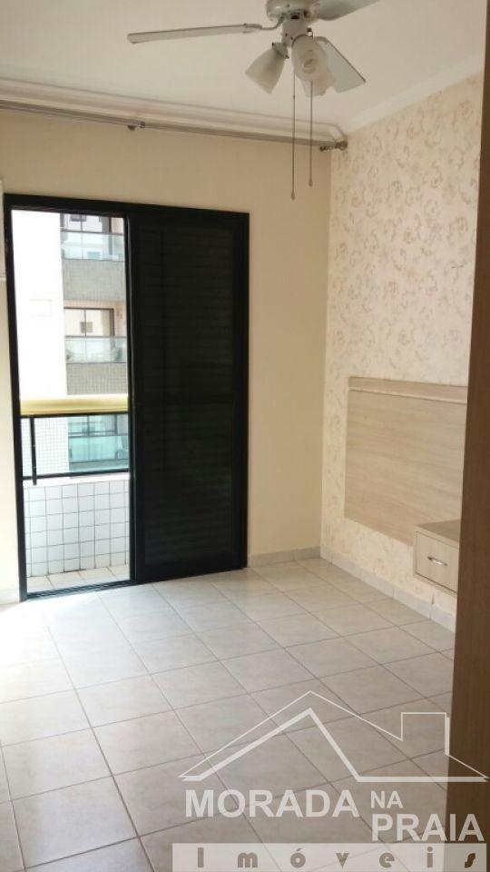 Suíte 01 do apartamento com 3 dormitórios em Campo da Aviação - Praia Grande
