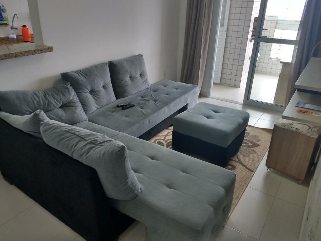 Sala ang 02 do apartamento com 1 dormitórios em Campo da Aviação - Praia Grande